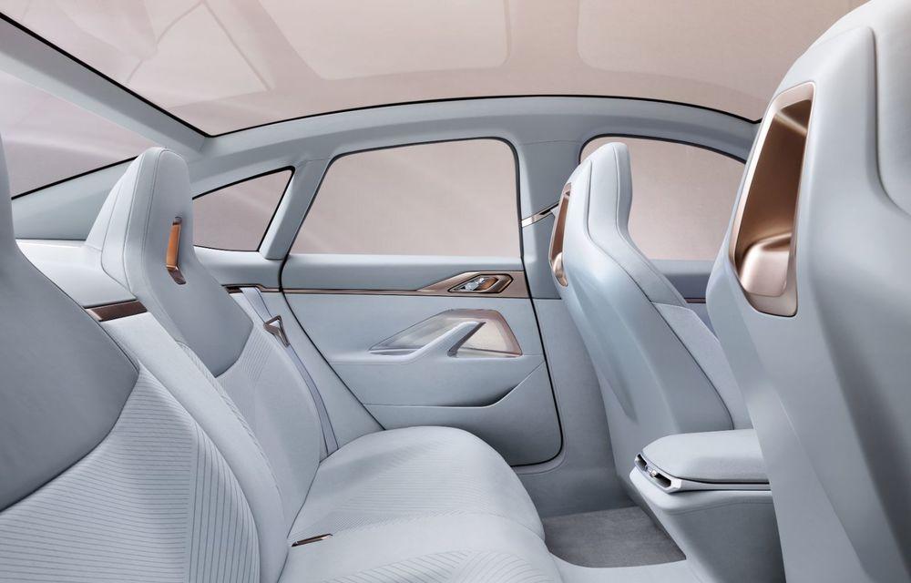 BMW a prezentat noul Concept i4: 530 CP și autonomie de până la 600 de kilometri. Versiunea de serie va fi produsă începând cu 2021 - Poza 33