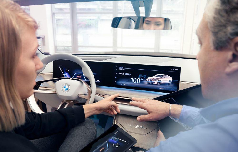 BMW a prezentat noul Concept i4: 530 CP și autonomie de până la 600 de kilometri. Versiunea de serie va fi produsă începând cu 2021 - Poza 44