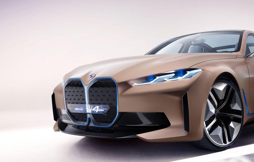 BMW a prezentat noul Concept i4: 530 CP și autonomie de până la 600 de kilometri. Versiunea de serie va fi produsă începând cu 2021 - Poza 20