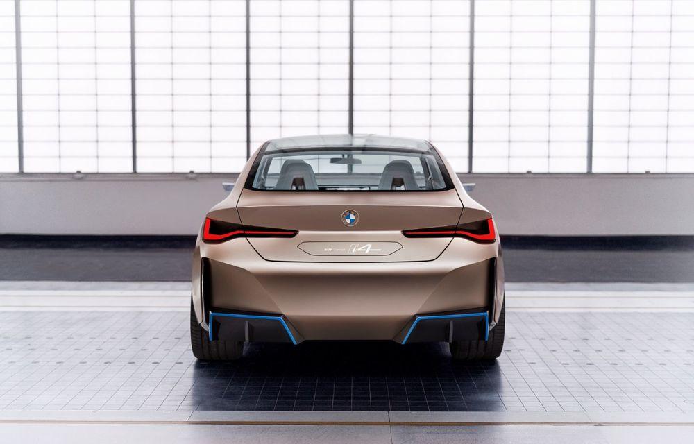BMW a prezentat noul Concept i4: 530 CP și autonomie de până la 600 de kilometri. Versiunea de serie va fi produsă începând cu 2021 - Poza 13
