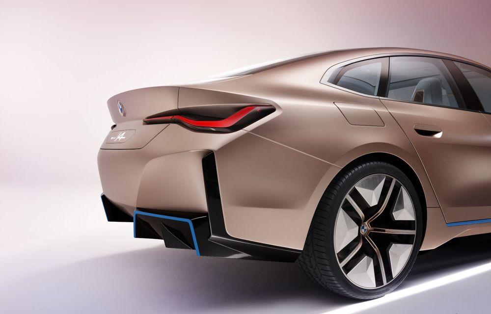 BMW a prezentat noul Concept i4: 530 CP și autonomie de până la 600 de kilometri. Versiunea de serie va fi produsă începând cu 2021 - Poza 21