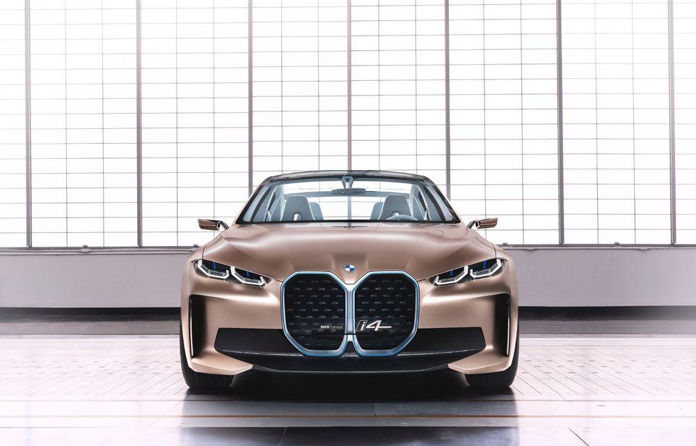 BMW a prezentat noul Concept i4: 530 CP și autonomie de până la 600 de kilometri. Versiunea de serie va fi produsă începând cu 2021 - Poza 9