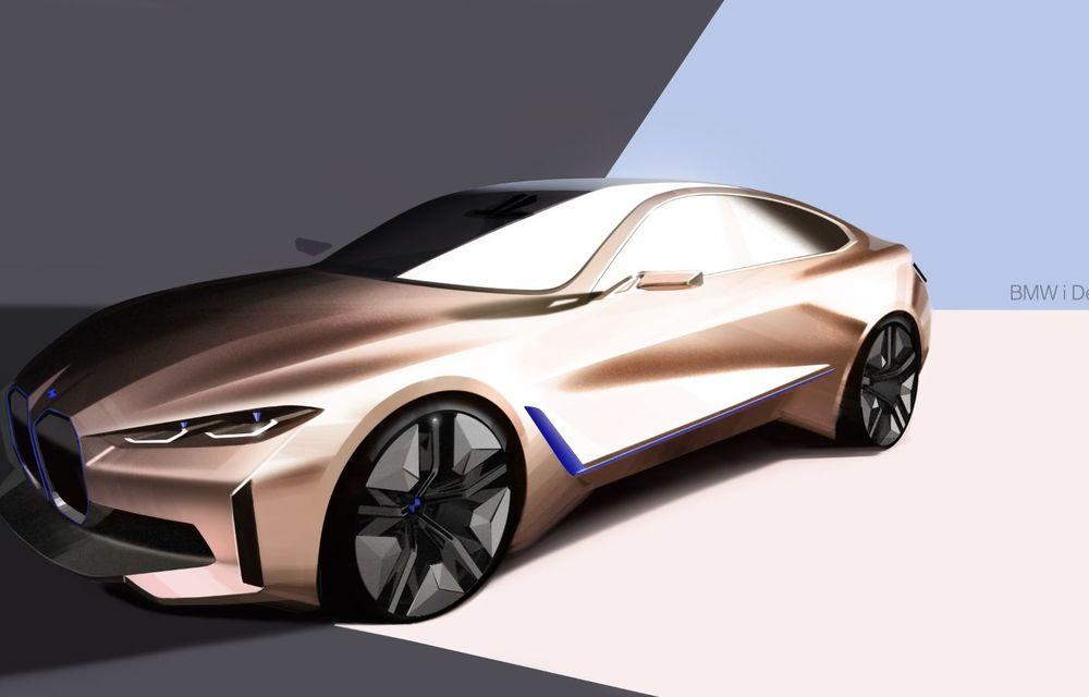 BMW a prezentat noul Concept i4: 530 CP și autonomie de până la 600 de kilometri. Versiunea de serie va fi produsă începând cu 2021 - Poza 62