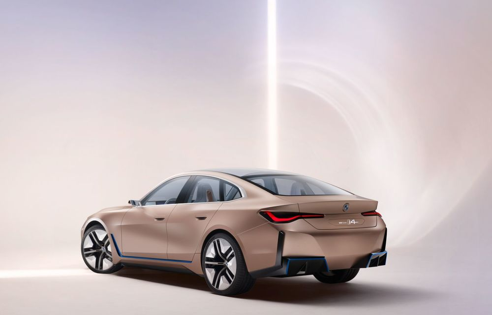 BMW a prezentat noul Concept i4: 530 CP și autonomie de până la 600 de kilometri. Versiunea de serie va fi produsă începând cu 2021 - Poza 17