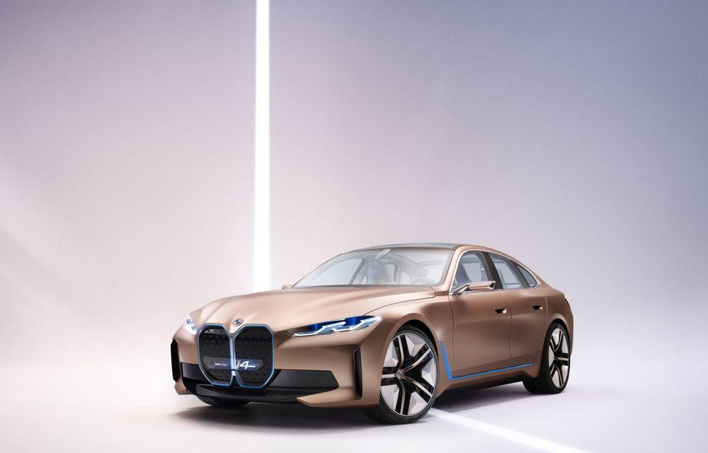 BMW a prezentat noul Concept i4: 530 CP și autonomie de până la 600 de kilometri. Versiunea de serie va fi produsă începând cu 2021 - Poza 15