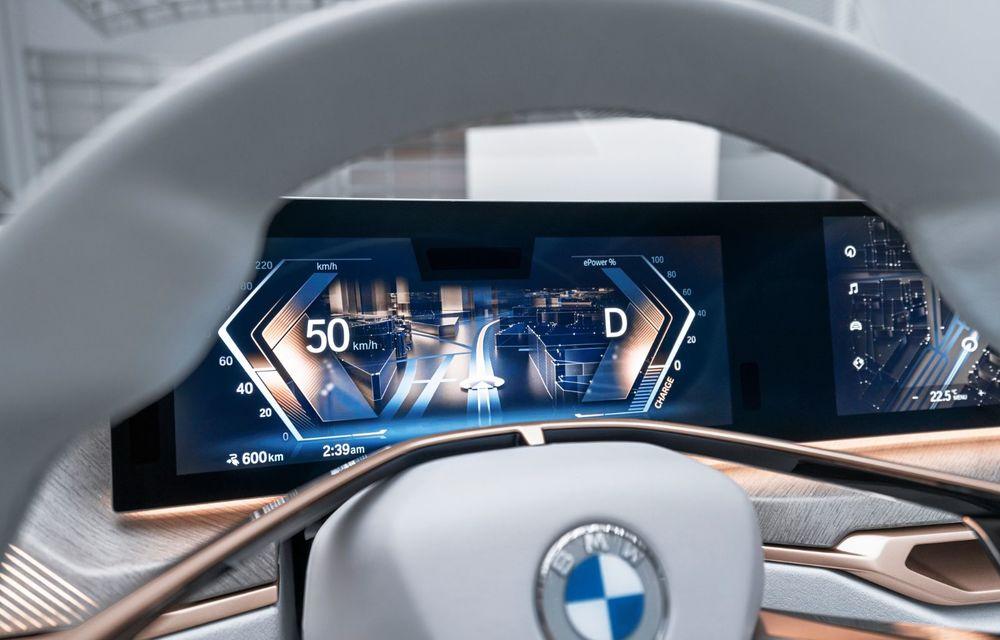 BMW a prezentat noul Concept i4: 530 CP și autonomie de până la 600 de kilometri. Versiunea de serie va fi produsă începând cu 2021 - Poza 29