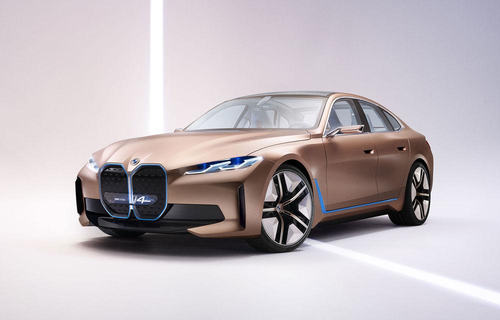 BMW a prezentat noul Concept i4: 530 CP și autonomie de până la 600 de kilometri. Versiunea de serie va fi produsă începând cu 2021 - Poza 1