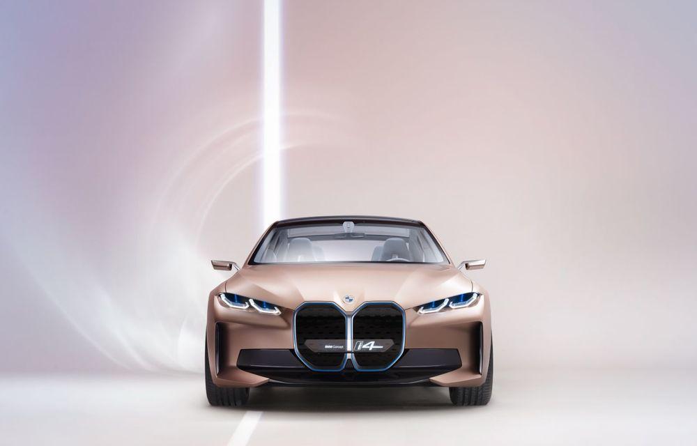 BMW a prezentat noul Concept i4: 530 CP și autonomie de până la 600 de kilometri. Versiunea de serie va fi produsă începând cu 2021 - Poza 14
