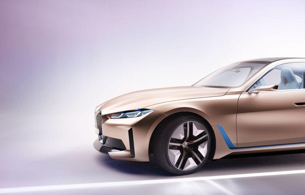 BMW a prezentat noul Concept i4: 530 CP și autonomie de până la 600 de kilometri. Versiunea de serie va fi produsă începând cu 2021 - Poza 19
