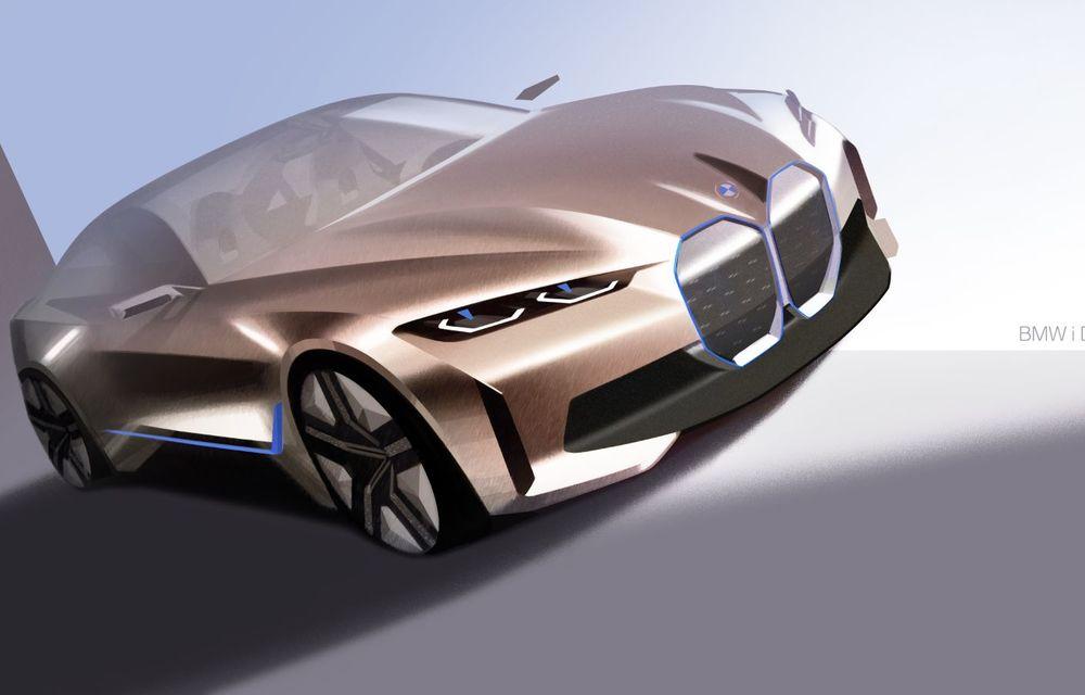BMW a prezentat noul Concept i4: 530 CP și autonomie de până la 600 de kilometri. Versiunea de serie va fi produsă începând cu 2021 - Poza 56