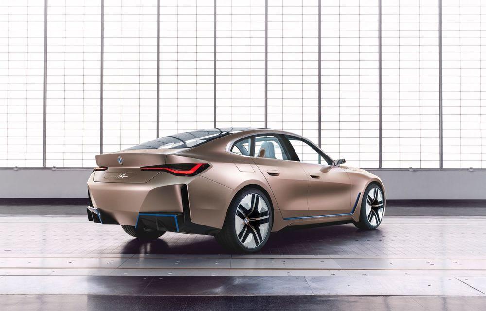 BMW a prezentat noul Concept i4: 530 CP și autonomie de până la 600 de kilometri. Versiunea de serie va fi produsă începând cu 2021 - Poza 10