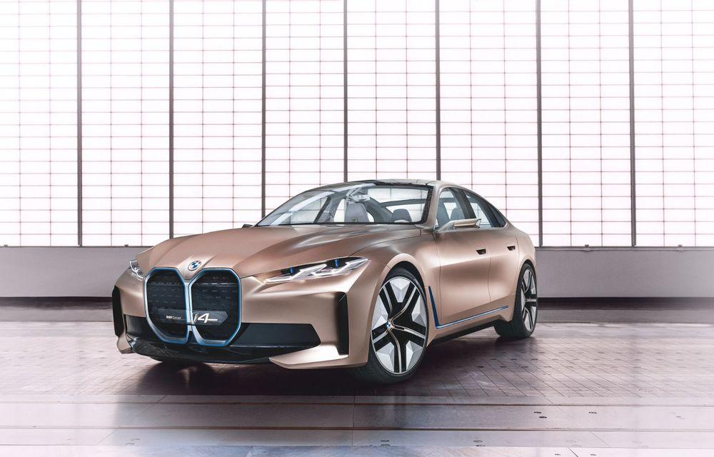 BMW a prezentat noul Concept i4: 530 CP și autonomie de până la 600 de kilometri. Versiunea de serie va fi produsă începând cu 2021 - Poza 12