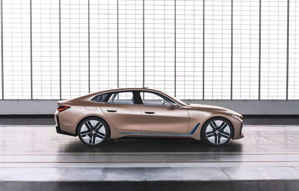 BMW a prezentat noul Concept i4: 530 CP și autonomie de până la 600 de kilometri. Versiunea de serie va fi produsă începând cu 2021 - Poza 11