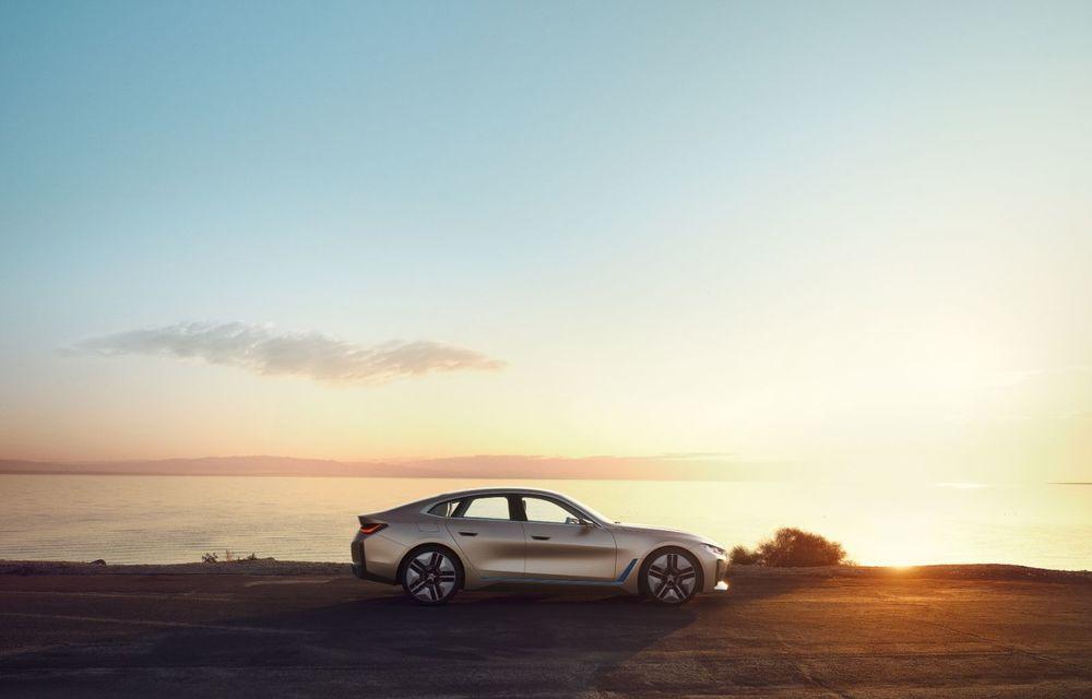 BMW a prezentat noul Concept i4: 530 CP și autonomie de până la 600 de kilometri. Versiunea de serie va fi produsă începând cu 2021 - Poza 4