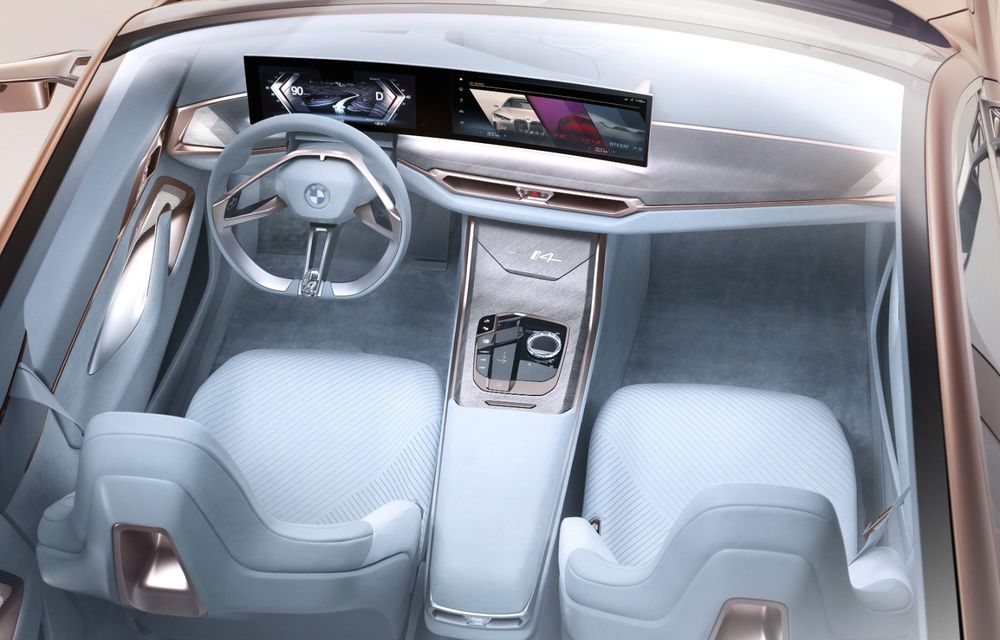 BMW a prezentat noul Concept i4: 530 CP și autonomie de până la 600 de kilometri. Versiunea de serie va fi produsă începând cu 2021 - Poza 34