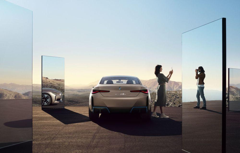 BMW a prezentat noul Concept i4: 530 CP și autonomie de până la 600 de kilometri. Versiunea de serie va fi produsă începând cu 2021 - Poza 8