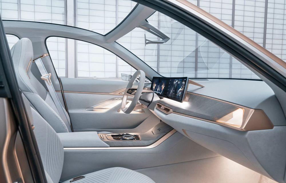 BMW a prezentat noul Concept i4: 530 CP și autonomie de până la 600 de kilometri. Versiunea de serie va fi produsă începând cu 2021 - Poza 28