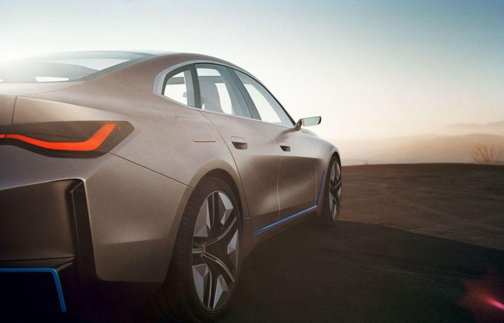 BMW a prezentat noul Concept i4: 530 CP și autonomie de până la 600 de kilometri. Versiunea de serie va fi produsă începând cu 2021 - Poza 23