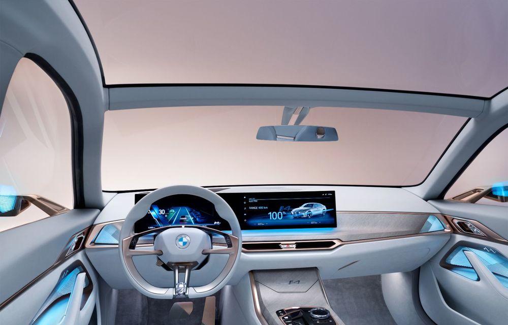 BMW a prezentat noul Concept i4: 530 CP și autonomie de până la 600 de kilometri. Versiunea de serie va fi produsă începând cu 2021 - Poza 31