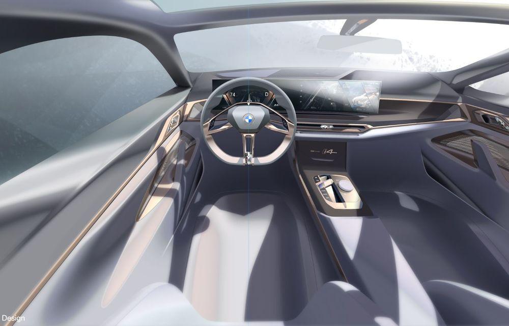 BMW a prezentat noul Concept i4: 530 CP și autonomie de până la 600 de kilometri. Versiunea de serie va fi produsă începând cu 2021 - Poza 70