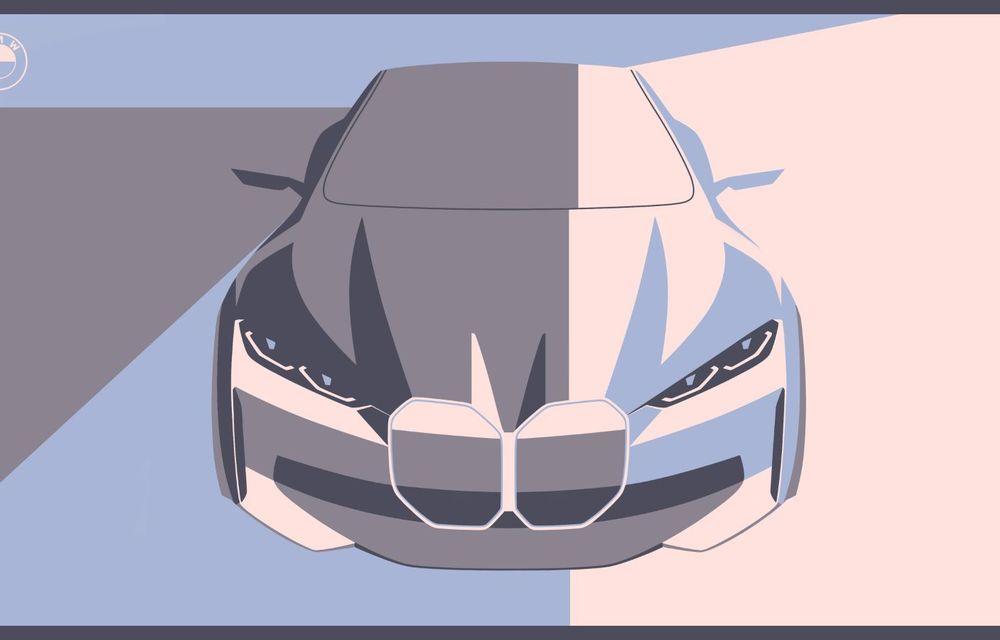 BMW a prezentat noul Concept i4: 530 CP și autonomie de până la 600 de kilometri. Versiunea de serie va fi produsă începând cu 2021 - Poza 63