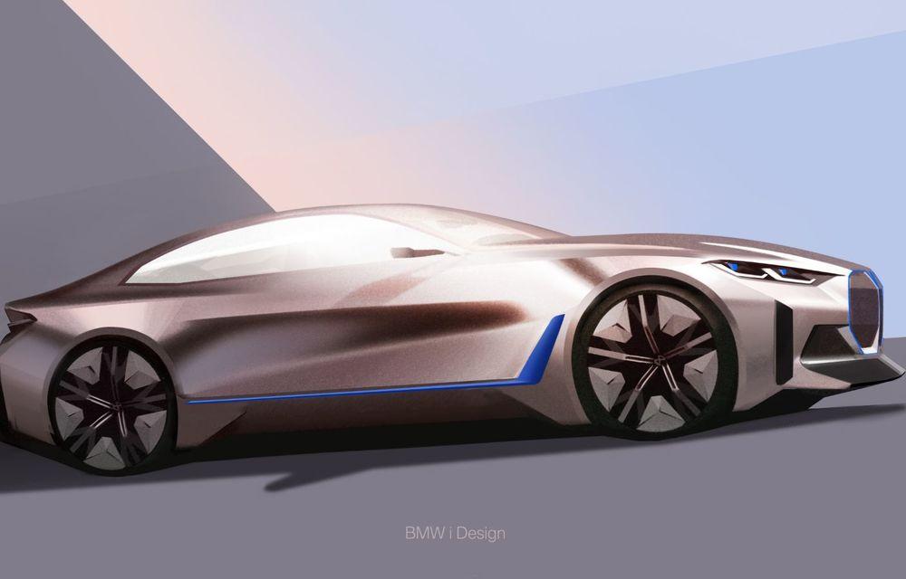 BMW a prezentat noul Concept i4: 530 CP și autonomie de până la 600 de kilometri. Versiunea de serie va fi produsă începând cu 2021 - Poza 60