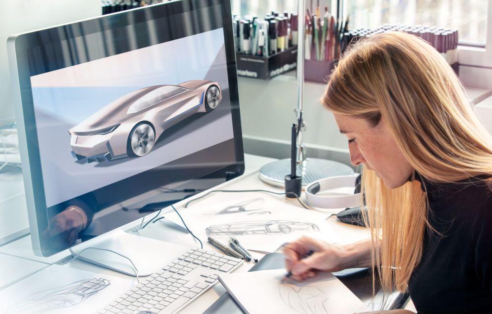 BMW a prezentat noul Concept i4: 530 CP și autonomie de până la 600 de kilometri. Versiunea de serie va fi produsă începând cu 2021 - Poza 46