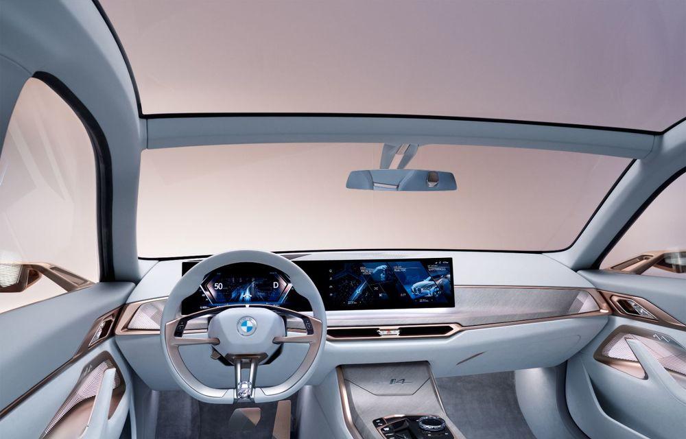 BMW a prezentat noul Concept i4: 530 CP și autonomie de până la 600 de kilometri. Versiunea de serie va fi produsă începând cu 2021 - Poza 38