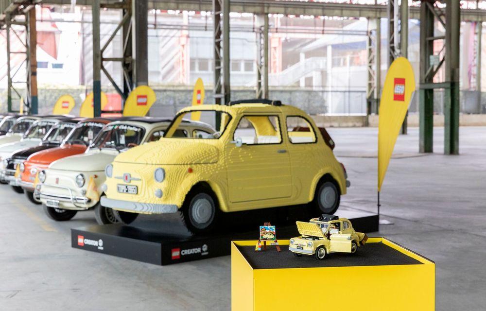 Lego a construit un Fiat 500 în mărime naturală: citadinul italian este fabricat din peste 189.000 de piese - Poza 2