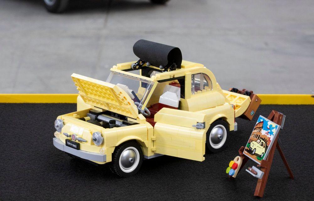 Lego a construit un Fiat 500 în mărime naturală: citadinul italian este fabricat din peste 189.000 de piese - Poza 8