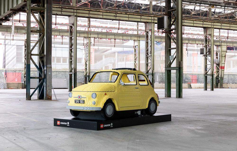 Lego a construit un Fiat 500 în mărime naturală: citadinul italian este fabricat din peste 189.000 de piese - Poza 1