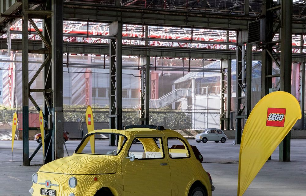 Lego a construit un Fiat 500 în mărime naturală: citadinul italian este fabricat din peste 189.000 de piese - Poza 3