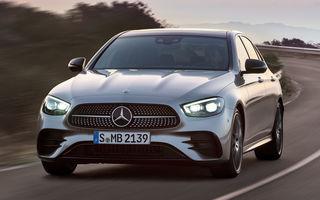 Acesta este Mercedes-Benz Clasa E facelift: modificări minore la exterior, interior cu ecrane de 12.3 inch și motorizări mild-hybrid și plug-in hybrid
