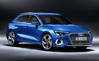 Primele imagini cu noua generație Audi A3 Sportback: îmbunătățiri de design, modificări majore la interior și motoare de până la 150 de cai putere