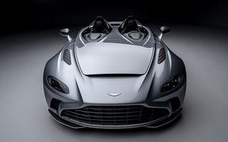Aston Martin a prezentat ediția limitată V12 Speedster: modelul fără plafon și parbriz oferă 700 CP și va fi produs în doar 88 de unități