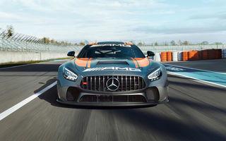 Îmbunătățiri pentru Mercedes-AMG GT4: versiunea de circuit oferă 476 de cai putere și un sistem de frânare modificat