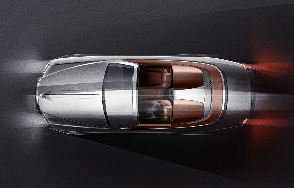 Primele teasere cu viitorul Rolls-Royce Dawn Silver Bullet: design inspirat de modelele roadster ale anilor '20 - Poza 1