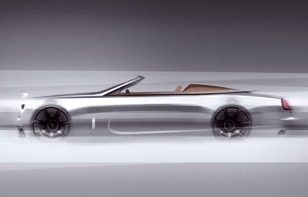 Primele teasere cu viitorul Rolls-Royce Dawn Silver Bullet: design inspirat de modelele roadster ale anilor '20 - Poza 2