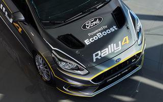 Prima imagine cu noul Ford Fiesta Rally 4: modelul destinat raliurilor dezvoltă 213 CP și va fi disponibil pentru comandă începând cu 1 aprilie
