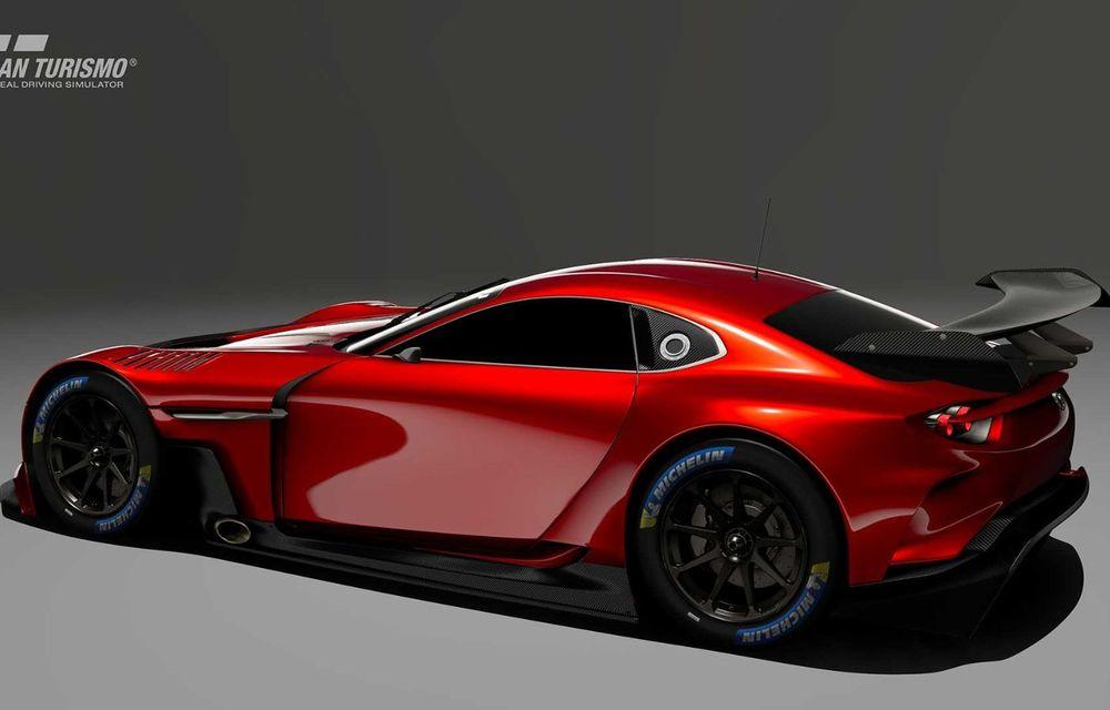 Mazda RX-Vision GT3 Concept, prototip virtual pentru fanii jocului video Gran Turismo Sport: conceptul niponilor va fi disponibil începând cu luna mai - Poza 2
