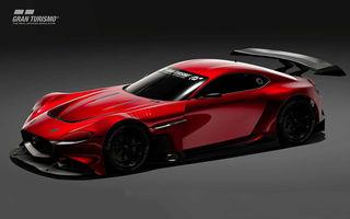 Mazda RX-Vision GT3 Concept, prototip virtual pentru fanii jocului video Gran Turismo Sport: conceptul niponilor va fi disponibil începând cu luna mai