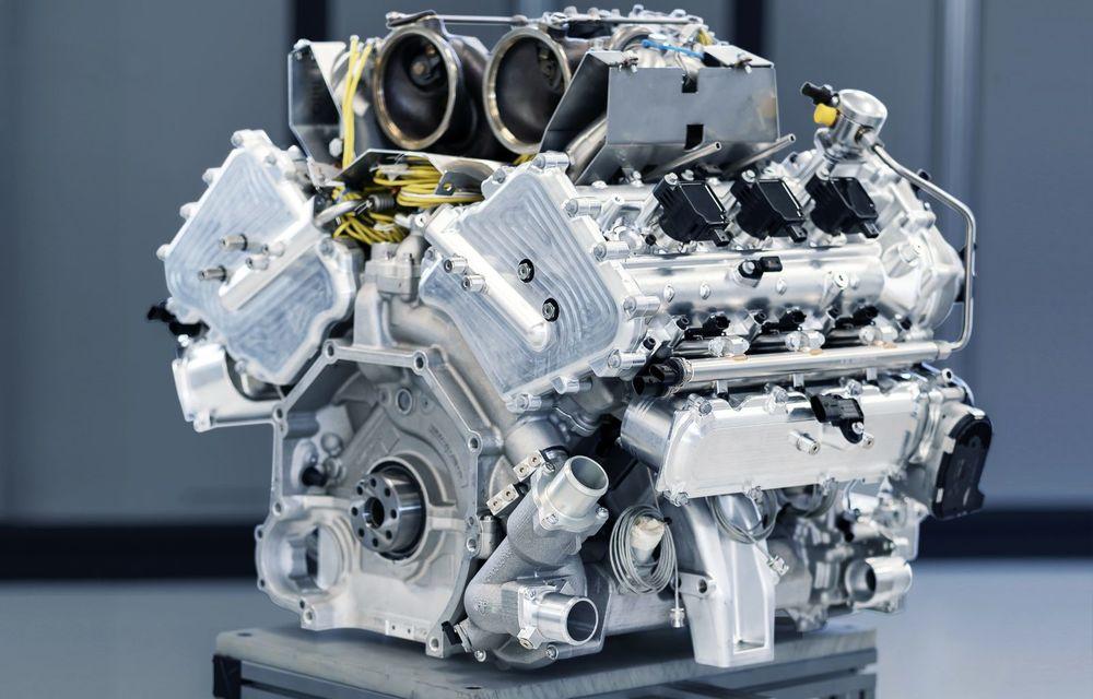 Primele informații despre noul motor pregătit de Aston Martin pentru viitorul Valhalla: hypercar-ul va avea un sistem de propulsie electrificat bazat pe un V6 de 3.0 litri - Poza 2