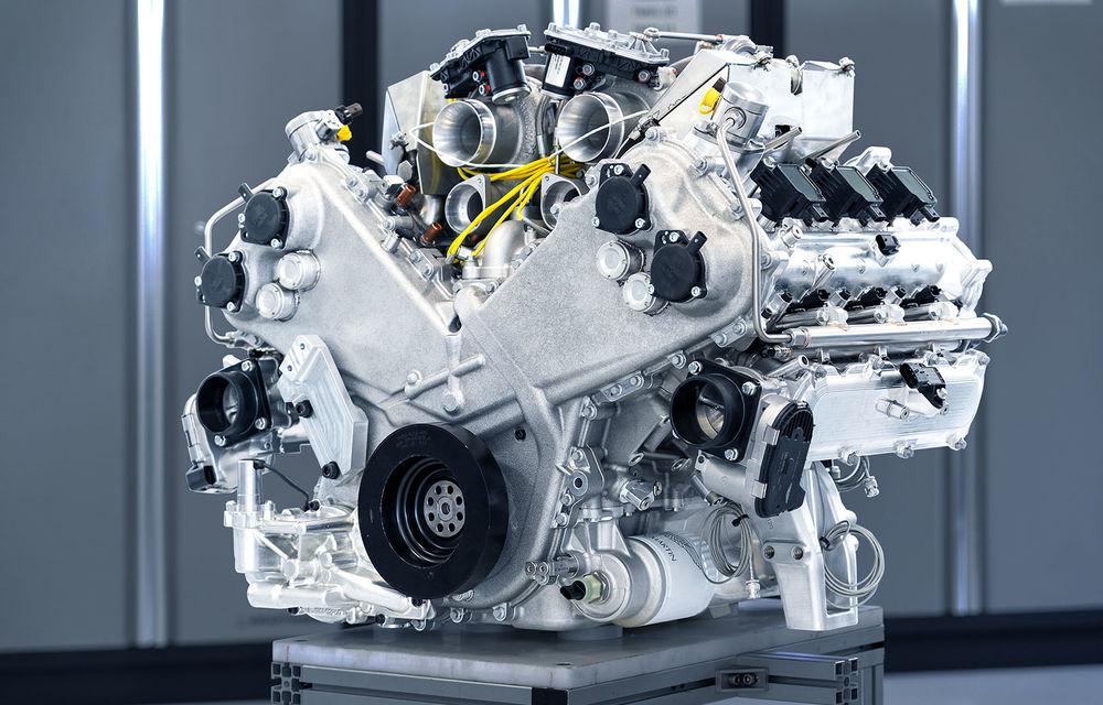 Primele informații despre noul motor pregătit de Aston Martin pentru viitorul Valhalla: hypercar-ul va avea un sistem de propulsie electrificat bazat pe un V6 de 3.0 litri - Poza 1