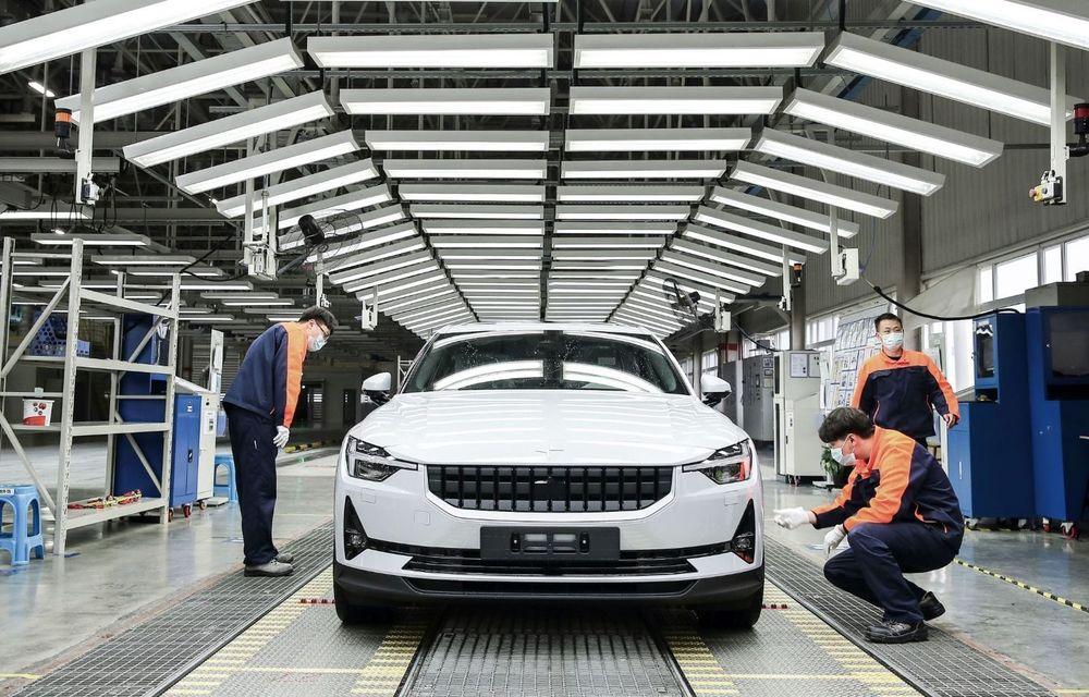 Volvo a început producția primului model electric din grup: Polestar 2 este construit la uzina din Luqiao, China - Poza 1