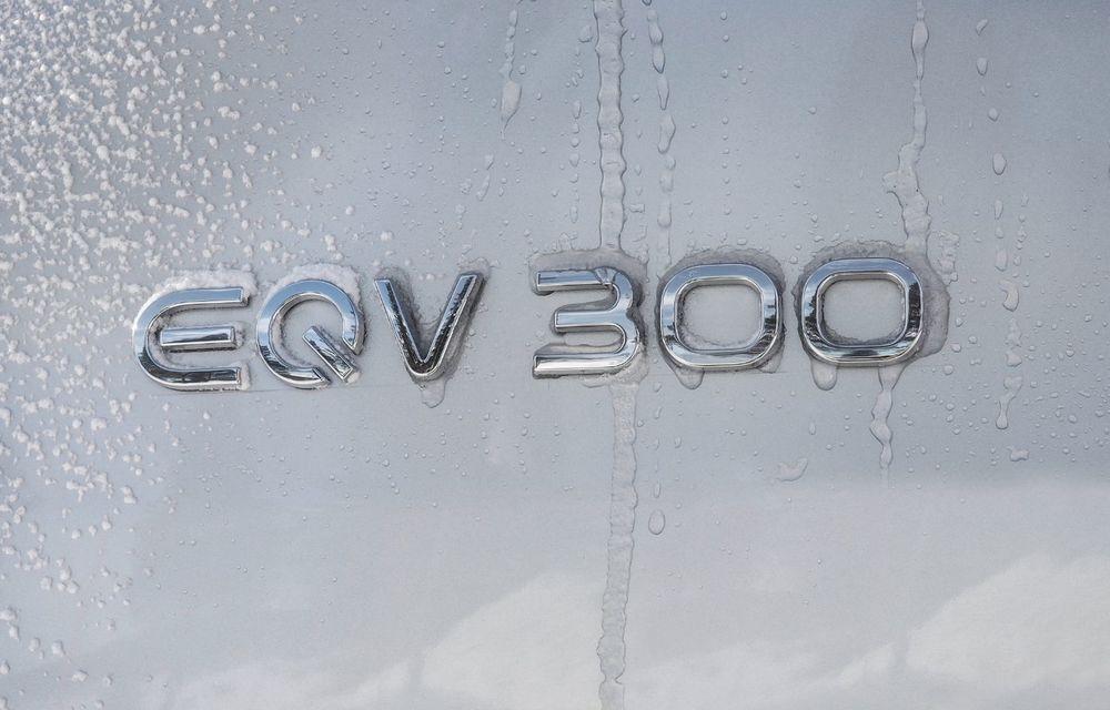 Mercedes-Benz EQV, testat în condiții extreme în Suedia: monovolumul electric cu autonomie de peste 400 de kilometri va fi lansat pe piață în a doua jumătate a anului - Poza 7