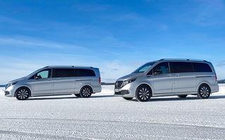 Mercedes-Benz EQV, testat în condiții extreme în Suedia: monovolumul electric cu autonomie de peste 400 de kilometri va fi lansat pe piață în a doua jumătate a anului