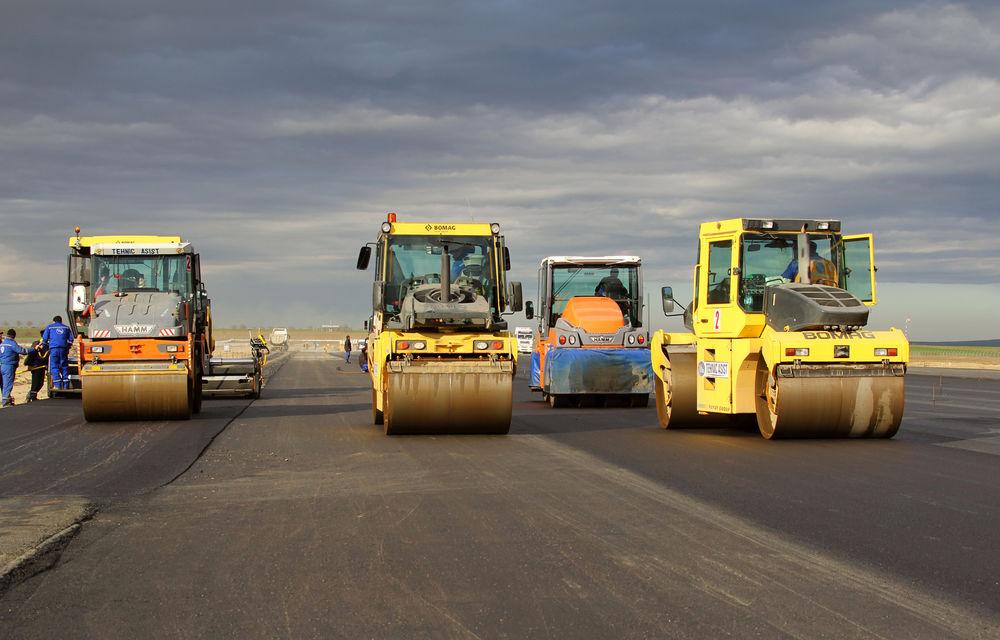Au început lucrările la autostrada Sibiu - Pitești: șantierul a fost deschis pe un lot de 13 kilometri al secțiunii Sibiu - Boița - Poza 1