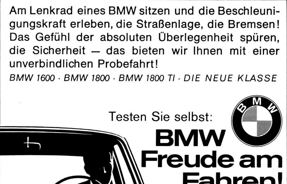 """Sloganul """"Plăcerea de a conduce"""" împlinește 55 de ani: sintagma care definește esența mărcii BMW a fost adoptată oficial în 1965 - Poza 4"""