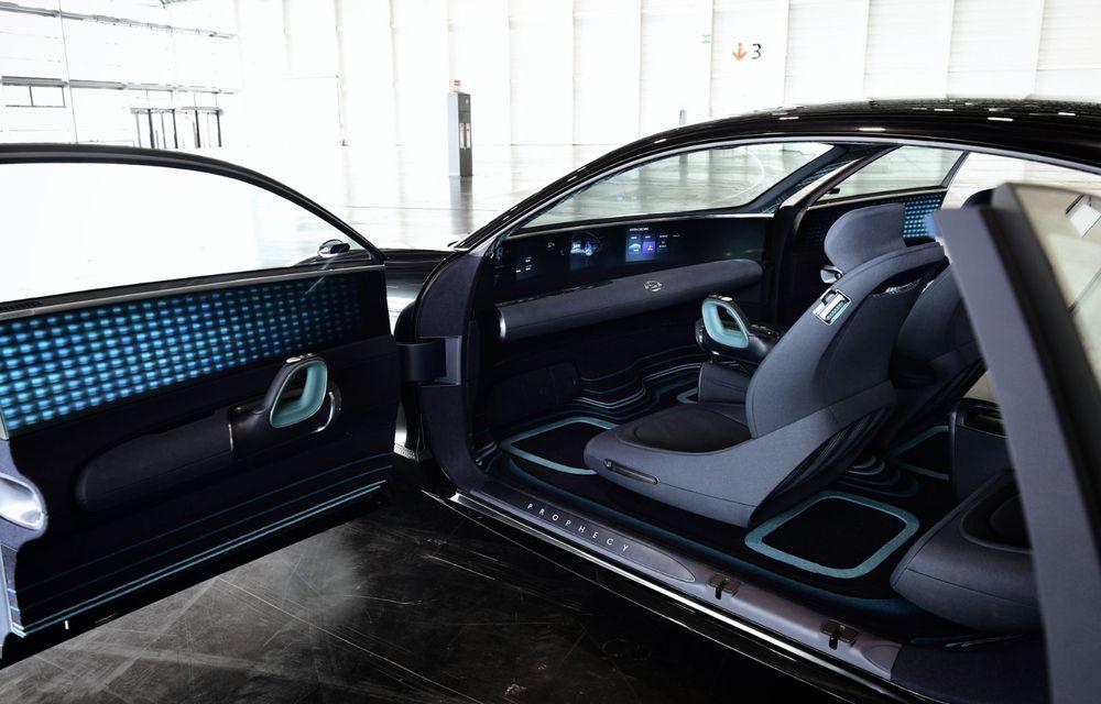 Informații noi despre conceptul Hyundai Prophecy: sistem special pentru purificarea aerului și tehnologie inteligentă pentru stabilirea poziției de conducere - Poza 12