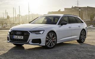 Audi A6 Avant primește versiune plug-in hybrid: break-ul preia sistemul de 367 CP de la A6 plug-in hybrid și are autonomie electrică de 51 de kilometri